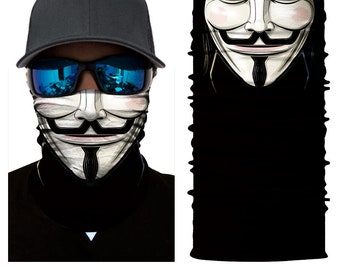 Guy Fawkes Face Shield/V for Vendetta/Fawkes Mask Cosplay
