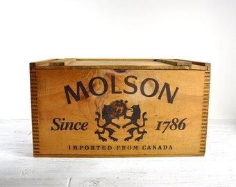 Molson Canadian Beer crates