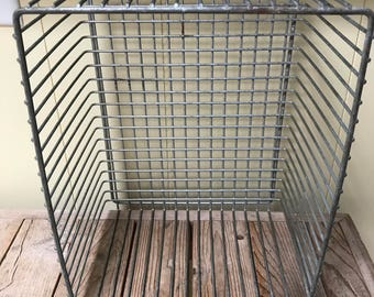 Quick View. Metal Basket Pool Basket Industrial Wire Basket Galvanized Metal  Basket Home Office Storage Organization Country Farmhouse