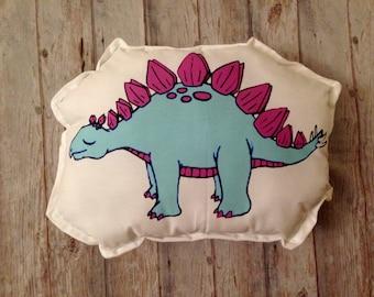 DINOSAUR PLUSH, yellow dinosaur plush, toddler pillow, dinosaur cushion, dinosaur plushy, dinosaur pillow, dinosaur room decor, kids bedroom