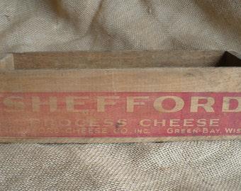 Vintage Shefford Cheese Box, Wooden Cheese Box