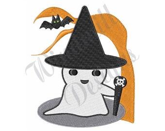 Cute  Ghost - Machine Embroidery Design