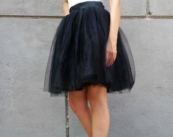 "Women Tulle Skirt, Knee length Tutu Skirt, Princess Skirt,  Wedding Skirt - – ""Choose to be me' / EXPRESS SHIPPING /  MD 10083"