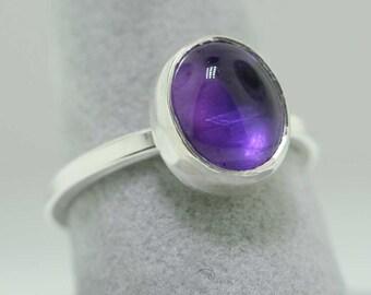 Amethyst Trinket Ring- Stackable