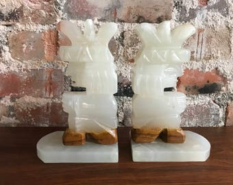 Aztec Onyx Bookends
