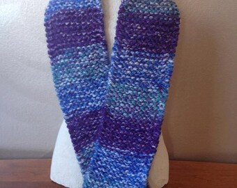 Purple and Blue Striped Scarf