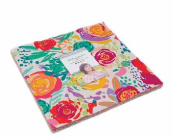 Painted Garden Layer Cake by Crystal Manning for Moda Fabrics, 42 pieces 10x10 inch squares--11810LC Moda Precuts