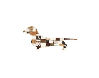 Dachshund Blocks Art Recycled Wood