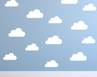 Set Of Clouds Wall Decal   Nursery Wall Decal   Childs Room Wall Decal    Cloud