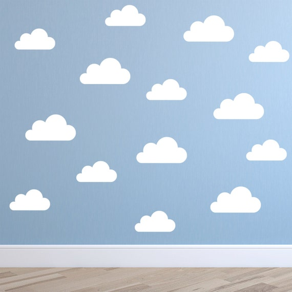 Set Of Clouds Wall Decal Nursery Wall Decal Childs Room - Nursery wall decals clouds