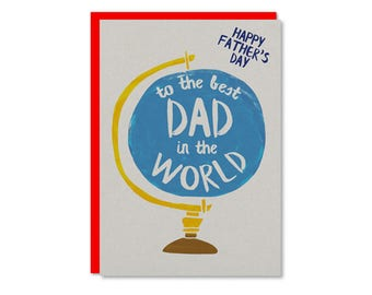 Best Dad in the World | Happy Father's Day Card | Fathers Day Cards UK