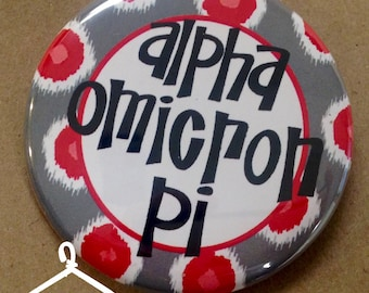 Alpha Omicron Pi Domino Button or Magnet