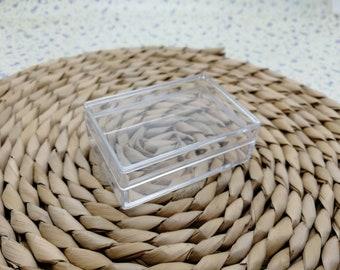 20pcs 57x40x20mm rectangle oblong shape clear plastic box , plastic jewelry box , square cube tool box , B2058