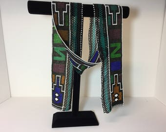 Vintage beaded blanket band from Ndebele tribe in South Africa