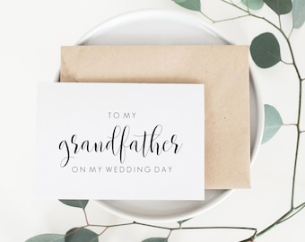 Grandfather Wedding Card. Grandfather Card. To My Grandfather Wedding Card. Wedding Card For Grandfather. Grandfather Of The Bride.