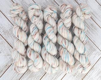 Have a Treat My Sweet Mini - Hand Dyed Sock Yarn Heavy Fingering Weight 20g Mini Skein 92yds PlumpleBee Base 75/25 Superwash Merino/Nylon