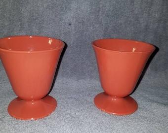 Hazel Atlas Ovide Platonite Custard Cups