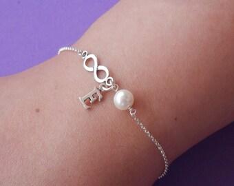 bridesmaid gift bridesmaid bracelet set of 6 bridesmaid gifts bridesmaid set of 4 infinity bracelet gold personalized bracelet inifinity cha