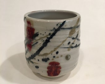 One Handmade Tea cup, Ceramic Cup, Yunomi, TCMCH18WRB16