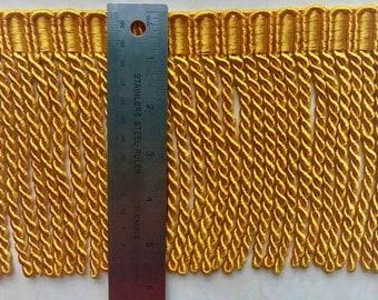"5.5"" Bullion fringe Satin Gold Cord curtain decorative tassel fringe, bullion Fringe, scoll gimp, single tassel, brush fringe,"