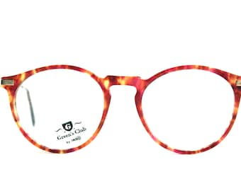 Green's Club Aston by Indo Spain - Round Havana Eyeglasses - New old Stock
