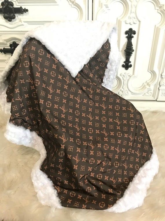 LV Minky Baby Blanket YOU pick minky color