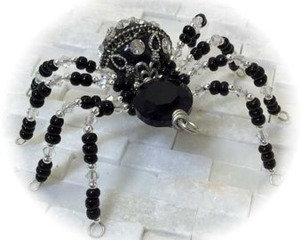 Large Beaded Wire Spider
