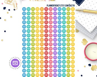 192 Tiny Appointment/Meeting Icon Planner Stickers! AE719