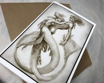 Embrace, Greeting Card by Renae Taylor and Tom Davies