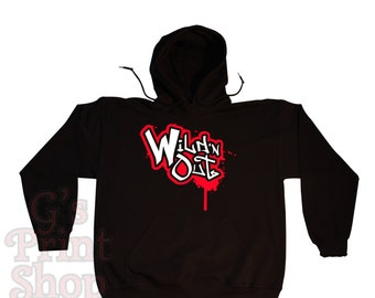 Wild N Out Hooded Sweatshirt Hoodie - Hip Hop - Urban - Nick Cannon Comedy - Red & White