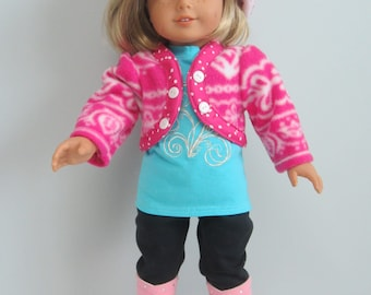 "Fleece Jacket with Matching Hat for 18"" American Girl Dolls"