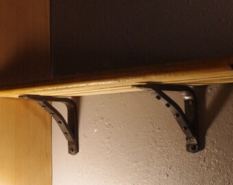 Pair of industrial shelf brackets - extra heavy construction