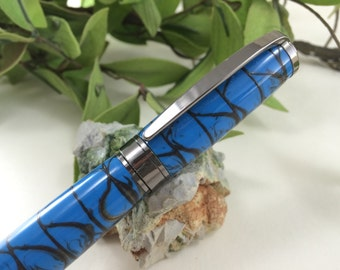 Blue and Black Fusion Personalized Calligraphy Fountain Pen- FREE ENGRAVING