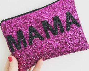 Pink Mama bag, pink mama makeup bag, Mama evening bag