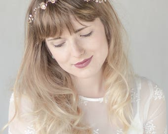 Wedding hair vine, Bridal hair vine, Gold hair vine, Gold Wedding headpiece, Floral Headpiece, Bridal headpiece, Wedding Hair Accessories