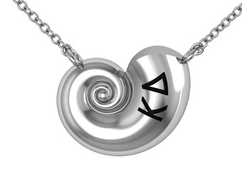 Kappa Delta Nautilus Necklace, Sterling Silver (KD-P007)