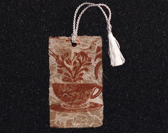 Perfect Gift for Your Coffee and Tea-loving Friends and Family, Havacuppa Handprinted Bookmark!
