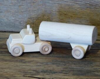 Handmade Wooden Toy Tanker Milk Truck Wooden Toys Kids Boys Childs Birthday Gift Present