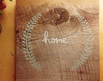 "Home"" painting on Reclaimed Maine Barnwood"