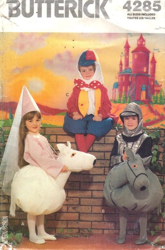 Butterick 4285 Humpty Dumpty Princess Knight Horse Costume Pattern ...