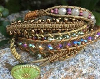 Topaz Glass Wrap Bracelet