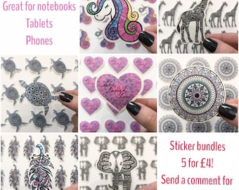 Mandala sticker bundles set