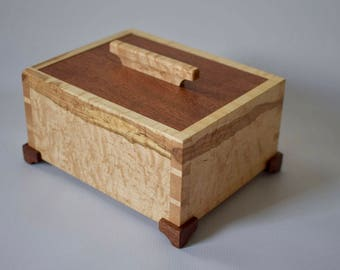 Spalted birdseye maple keepsake box