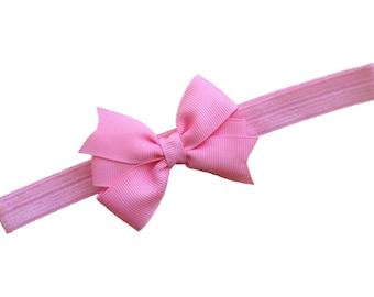 Pink baby headband - pink bow headband, baby headband, newborn headband, baby bow headband, baby girl headband, baby headbands, baby bows