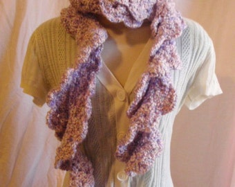 Kudo Scarf in Baby Pink and Purple