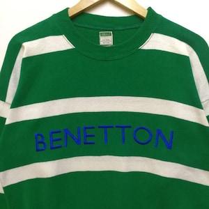 Hot Item!! vintage Benetton Sweatshirt Big Logo Size Large Benetton Formula 1 Activewear Streetswear Very Good Condition sRFk7bQKG