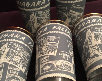 Vintage Niagara Falls Souvenir Tumblers