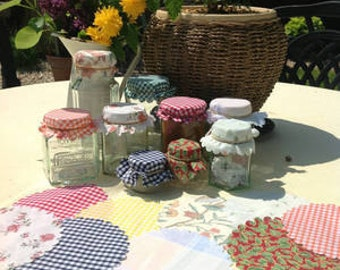 36  Mixed Jam Jar Covers