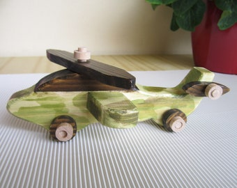 Wooden Toy Helicopter Handmade