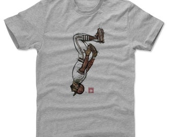 Ozzie Smith Shirt | St. Louis Baseball | Men's Cotton T-Shirt | Ozzie Smith Sketch Backflip R